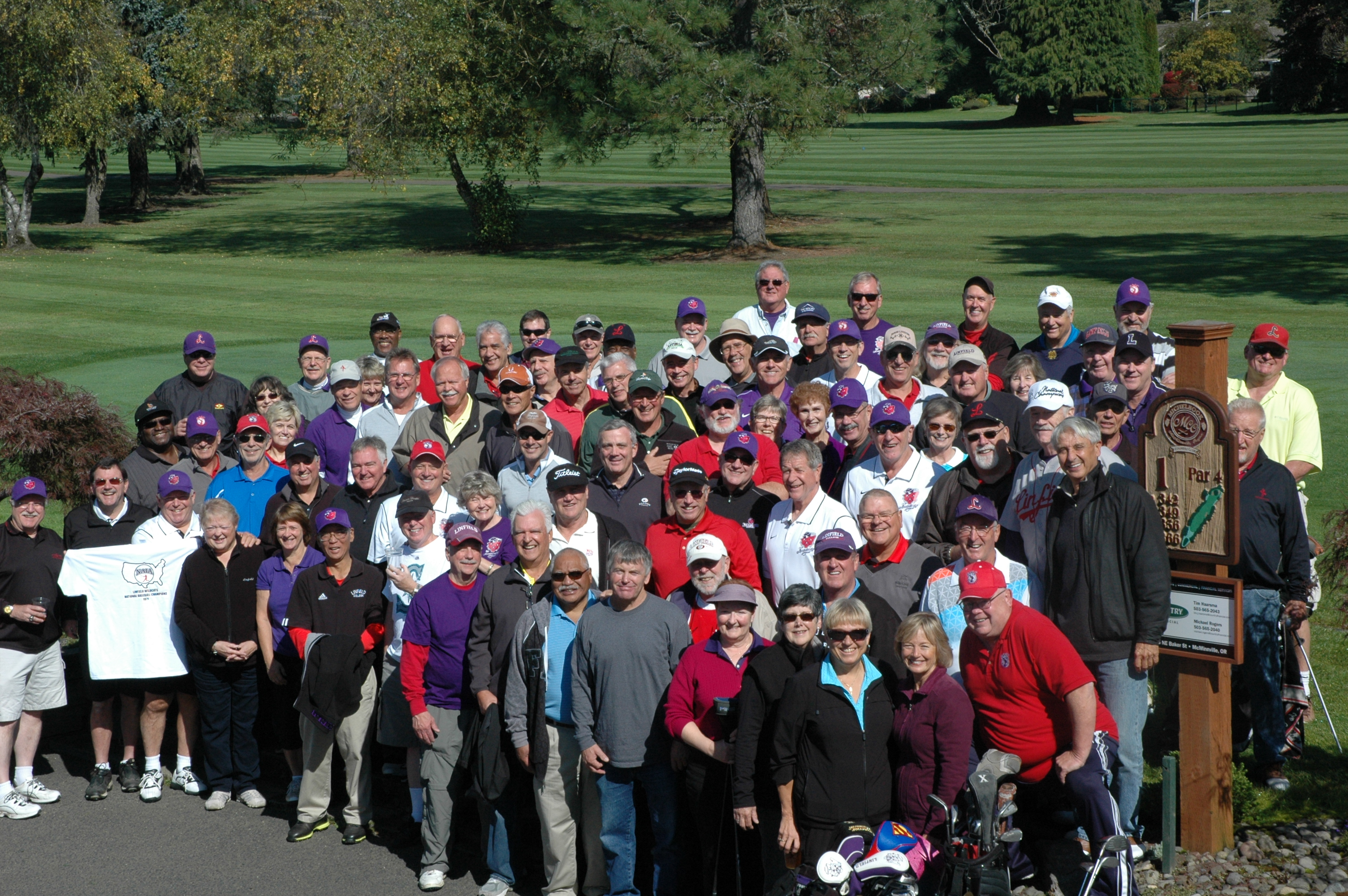 Image result for people at a golf tournament